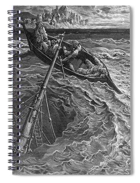 The Ship Sinks But The Mariner Is Rescued By The Pilot And Hermit Spiral Notebook