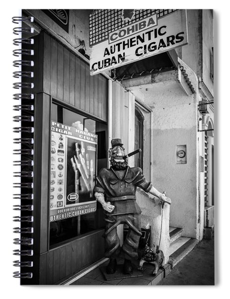 The Sidewalk Humidor  Spiral Notebook