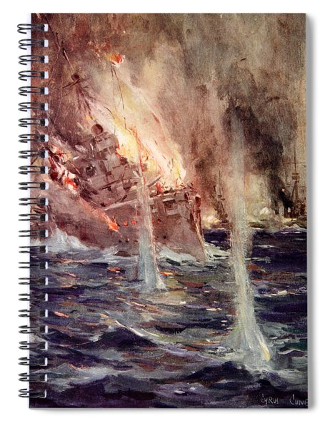 The Sinking Of The Gneisenau Spiral Notebook