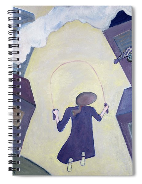 The Skipping Rope, 1983 Oil On Canvas Spiral Notebook
