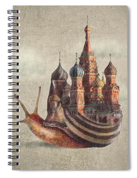 The Snail's Daydream Spiral Notebook