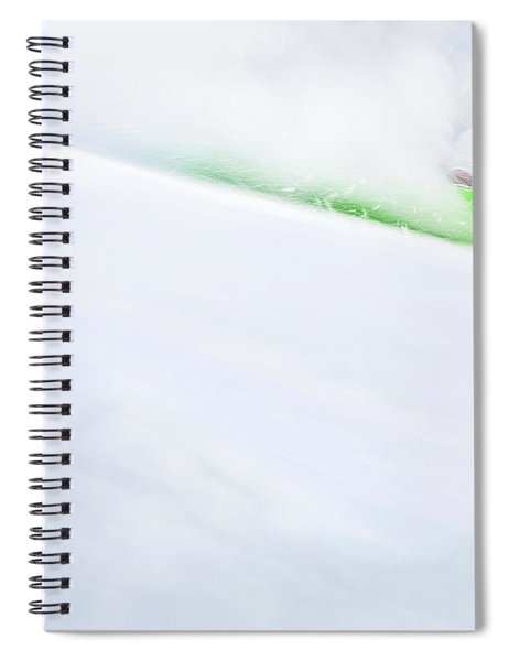 The Snowboarder And The Snow Spiral Notebook