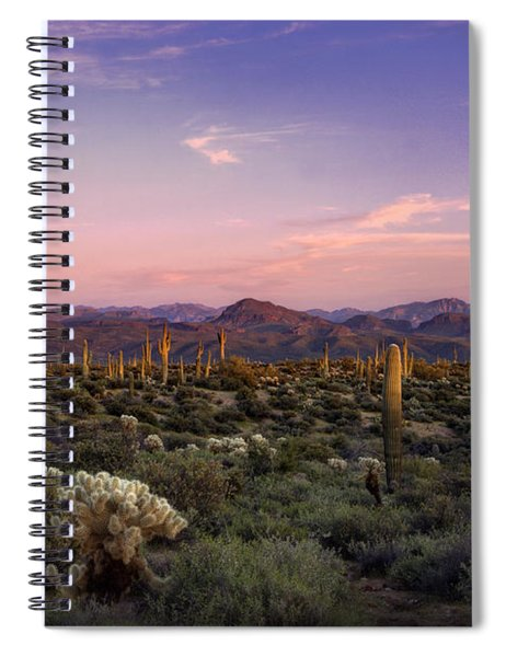 The Sonoran Desert At Sunset  Spiral Notebook