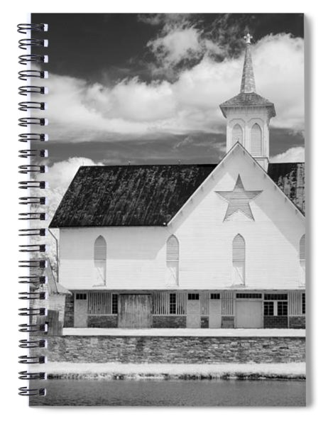 The Star Barn - Infrared Spiral Notebook