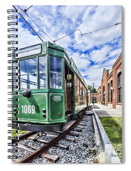 The Stib 1069 Streetcar At The National Capital Trolley Museum I Spiral Notebook