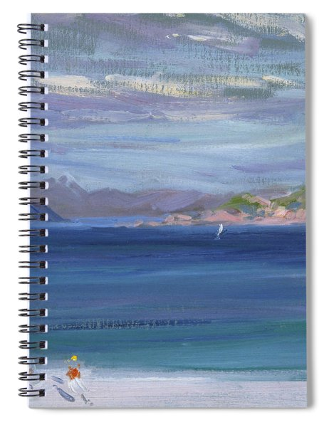 The Tail Of Mull From Iona Spiral Notebook