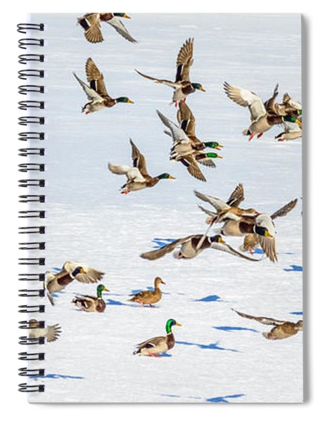 Spiral Notebook featuring the photograph The Takeoff by Garvin Hunter