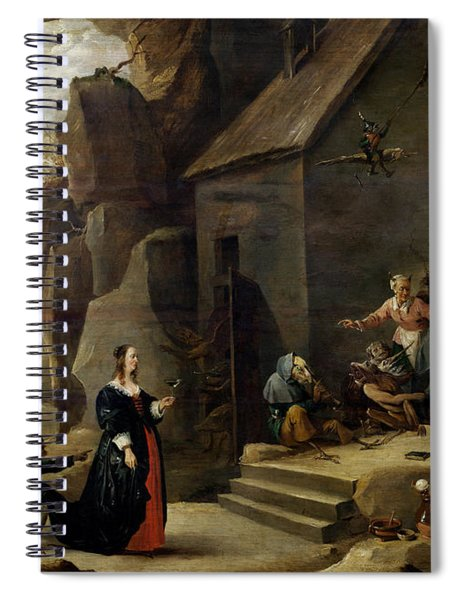 The Temptation Of St. Anthony Oil On Canvas Spiral Notebook