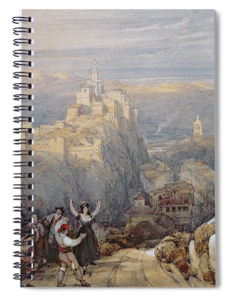 The Town And Castle At Loja, Spain, 1834 Spiral Notebook