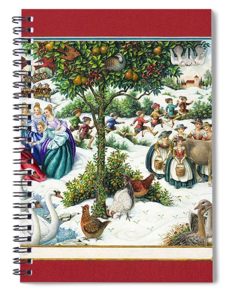 The Twelve Days Of Christmas Spiral Notebook