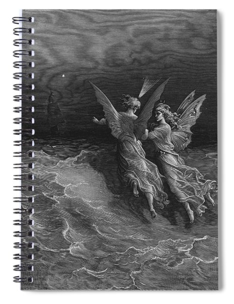 The Two Fellow Spirits Of The Spirit Of The South Pole Ask The Question Why The Ship Travels  Spiral Notebook