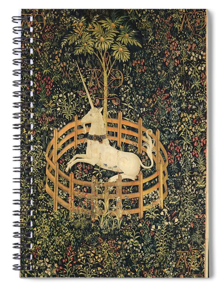 The Unicorn In Captivity Spiral Notebook