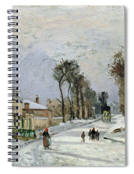 The Versailles Road At Louveciennes Spiral Notebook