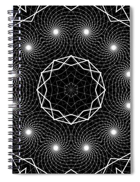 Spiral Notebook featuring the digital art The Web Of Life by Derek Gedney