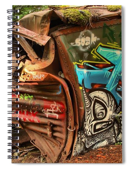 The Whistler Train Wreck Alien Spiral Notebook