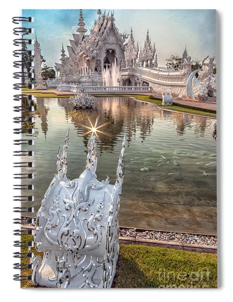 The White Temple Spiral Notebook