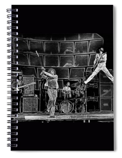 The Who - A Pencil Study - Designed By Doc Braham Spiral Notebook