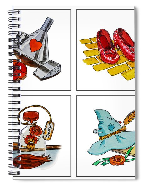 The Wonderful Wizard Of Oz Spiral Notebook