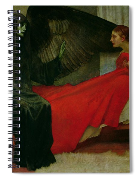 The Young Girl And Death Spiral Notebook
