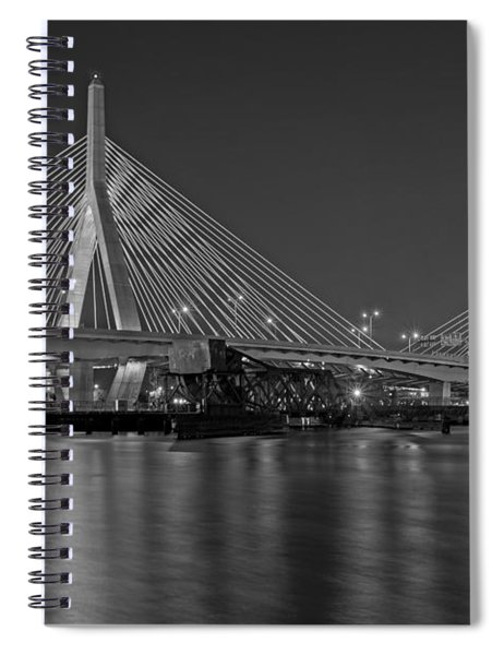 The Zakim Bridge Bw Spiral Notebook