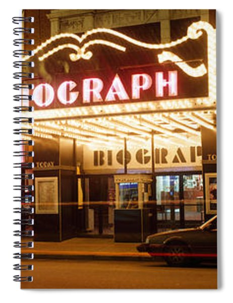 Theater Lit Up At Night, Biograph Spiral Notebook