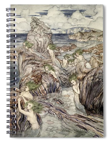 They Have Sea-green Hair, Illustration Spiral Notebook