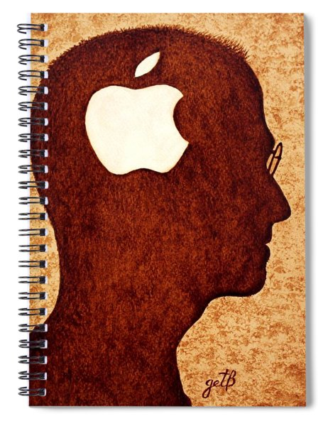 Think Different Tribute To Steve Jobs Spiral Notebook