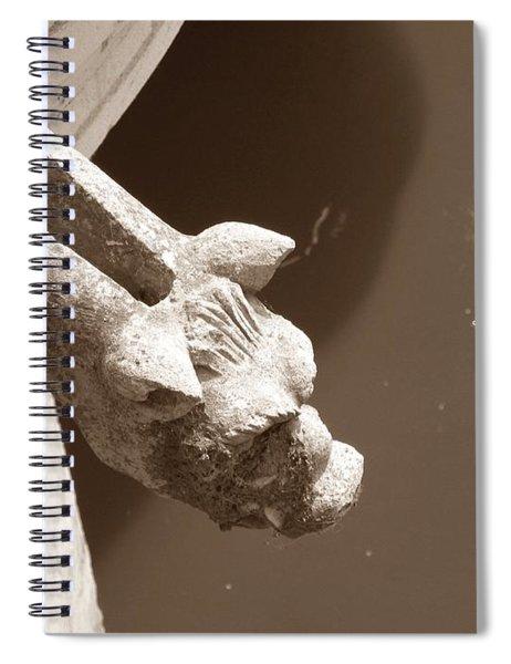 Thirsty Gargoyle - Sepia Spiral Notebook