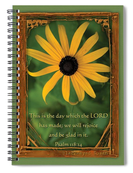 This Is The Day Sunflowers Spiral Notebook