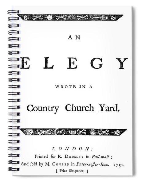 Thomas Gray Elegy, 1751 Spiral Notebook