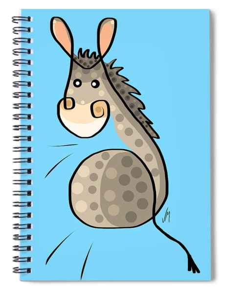 Thoughts And Colors Series Donkey Spiral Notebook