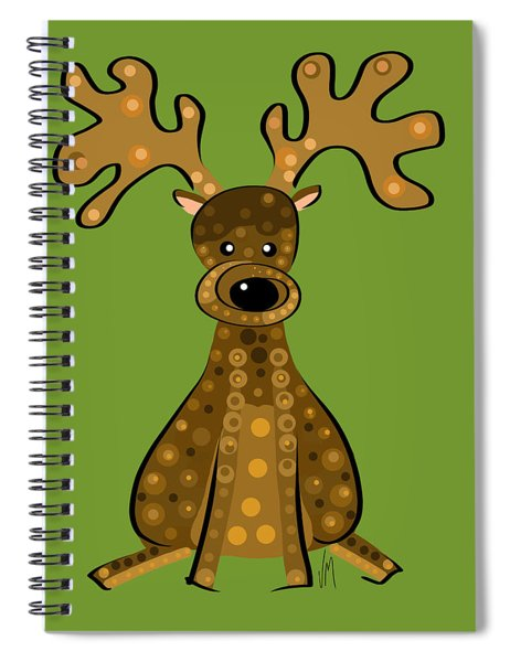 Thoughts And Colors Series Reindeer Spiral Notebook