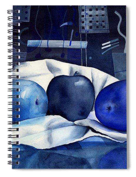 Three Apples Spiral Notebook