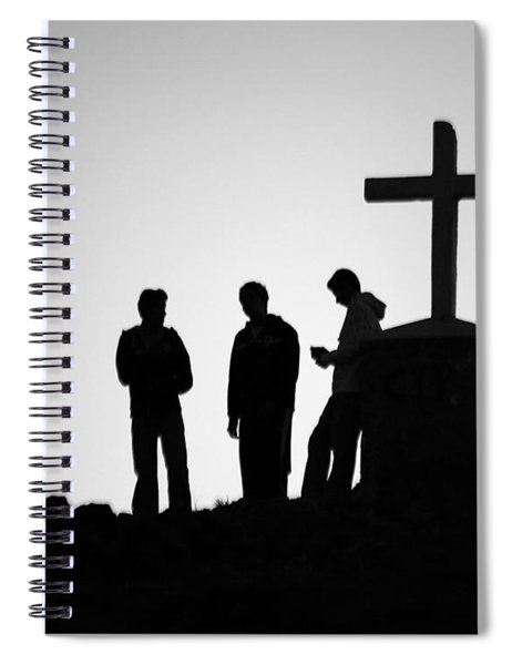 Three At The Cross Spiral Notebook