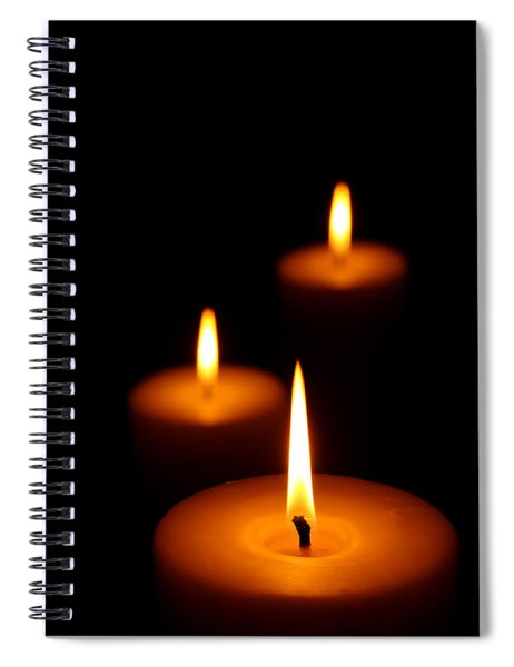 Three Burning Candles Spiral Notebook