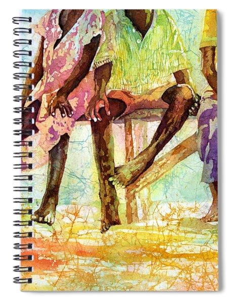 Three Children Of Ghana Spiral Notebook