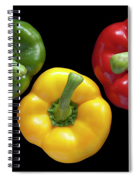 Three Colors Spiral Notebook
