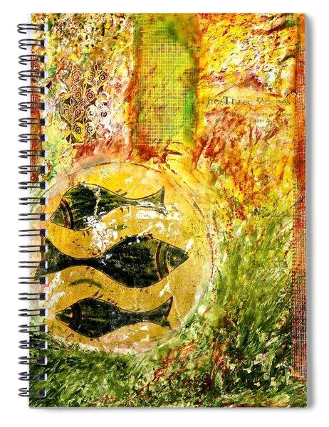 Three Fishes Spiral Notebook