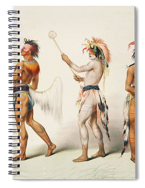 Three Indians Playing Lacrosse Spiral Notebook