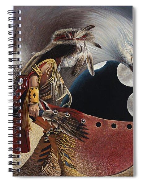 Three Moon Eagle Spiral Notebook
