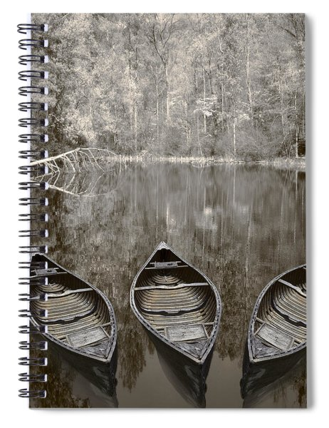 Three Old Canoes Spiral Notebook