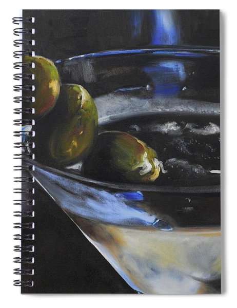 Three Olive Martini Spiral Notebook