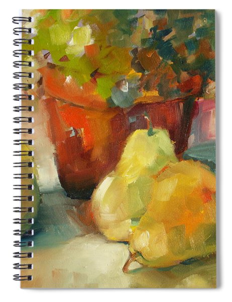 Three Pears And A Pot Spiral Notebook