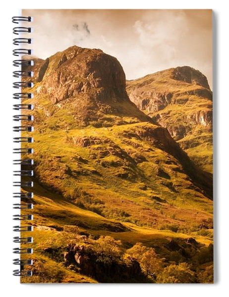Three Sisters. Glencoe. Scotland Spiral Notebook
