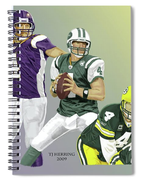 Three Stages Of Bret Favre Spiral Notebook