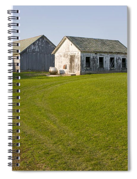 Three Weathered Farm Buildings Spiral Notebook