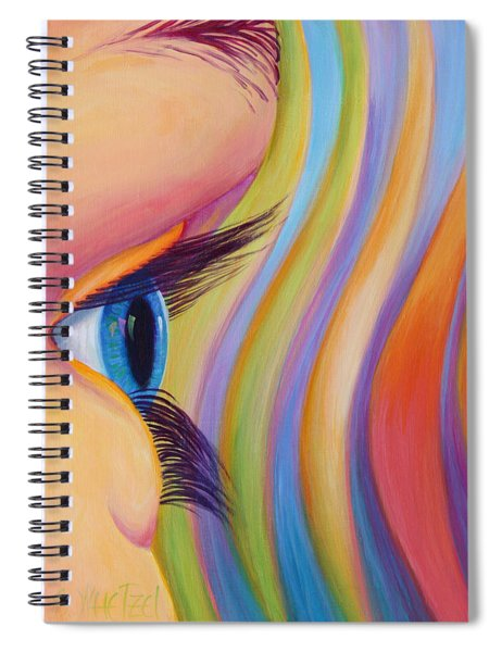 Through The Eyes Of A Child Spiral Notebook by Sandi Whetzel