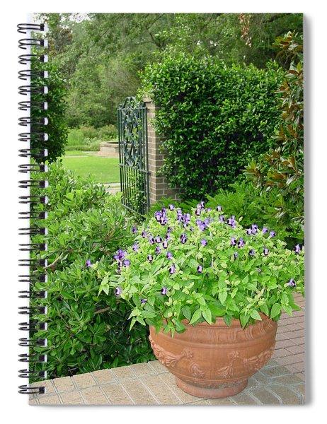 Through The Garden Gate Spiral Notebook