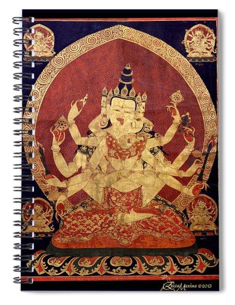 Tibetan Art Spiral Notebook