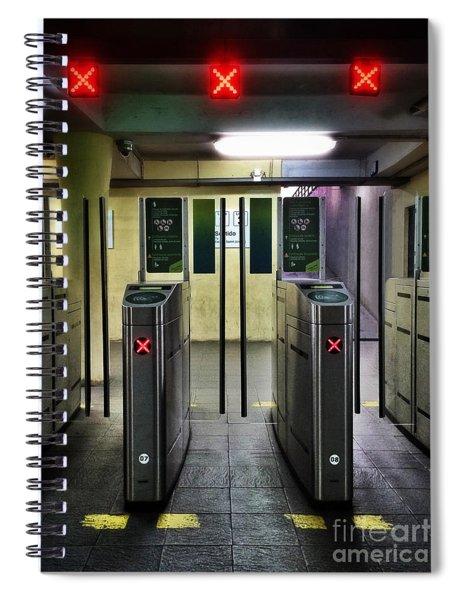 Ticket Gates Spiral Notebook